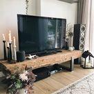TV meubel van spoorbielzen