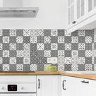 100 cm x 90 cm Hart-Kunststofffolie Spritzschutzpaneel Selbstklebend Arthemus