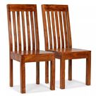 ZUN Dining Chairs 2 pcs Solid Wood with Sheesham Finish Modern 245645