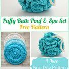 Crochet Puffy Bath Pouf & Spa Set Kostenloses Tutorial - Crochet Spa Geschenkidee ... gestrickt ideen  #amigurumi #crochet #knitting #amigurumipatterns #crochetafghanpatterns #babycrochetpatterns #crochetafghan #yarn #crochetscarf #crochetblanket