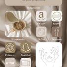 Nude Minimal Aesthetic IOS 14 Icons Pack