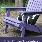 How To Paint Wooden Patio Furniture