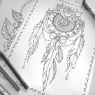 Floral and Lace Decorative Wall Hanging Adult Coloring Page- Digital PDF - Instant Download - Boho Wall Art