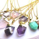 Boho Necklace   Bridesmaid Gift   Gift for Her - Amethyst