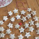 Christmas clearance, Scandinavian Christmas, Modern Christmas, Traditional Christmas, Rustic Holiday decor, Star garland