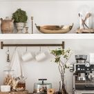 Built In Open Shelving | Modern Farmhouse Kitchen