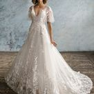 Delphine   Boho Wedding Dress Unusual Wedding Dresses Bohemian Dress Wedding Summer Wedding Dresses