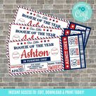 Baseball ticket invitation, Baseball Birthday, Baseball Baby Shower, Rookie of the Year, All Star, Baseball Party Decorations