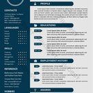 desain template cv resume modern sederhana untuk wawancara   Word templat DOC Unduhan gratis - Pikbest