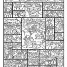 Nativity Alphabet  coloring page in three sizes: 8.5X11  8X10   Etsy