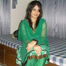 Desi Beauty Girl in Green Salwar Kameez Dress