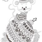 Anti-stress kleurplaten Advent Kalender : 4 december 8