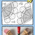 ijshoorntjes knutselen - kiddicolour
