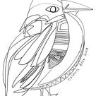 Eastern Blue Bird Coloring Page