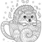 Printable relaxing coloring page cup