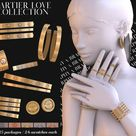 Cartier Love Collection [Earrings, Rings, Bracelet Combinatons] - The Sims 4