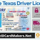 Texas Driver License Template PSD