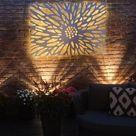 Laser Cut Decorative Metal Wall Art Panel   Garden Wall Sculpture   Decorative Panel   Optional Back Lighting // Benbecula