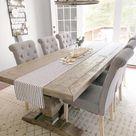 Farmhouse Dining Table with Chunky Legs   Etsy