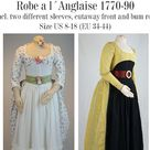 Robe a La Anglaise 1770-90 Incl. Two Different Sleeves   Etsy