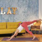 Fitness Yoga-Übungen