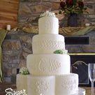 Hydrangea Wedding Cakes