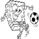 SpongeBob SquarePants coloring pages - Playing soccer