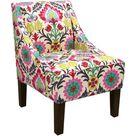 Alcott Hill® Mckamey Slipper Chair Fabric: Wood/Fabric in Santa Maria Desert Flower, Size 32