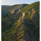 Print of France, Languedoc, Lastours, Cathar castles (MR)