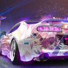 HD wallpaper: animated character printed white coupe wallpaper, Super Car