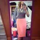 Coral Pencil Skirts