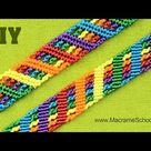 Colorful Rainbow Bracelet Tutorial    Macrame School