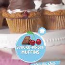 Schoko-Kirsch-Muffins mit Schokokusshaube