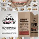 BUNDLE   Paper Packaging Mockup
