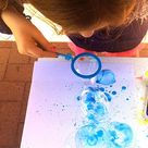 Bubble Painting with Bubble Blowers: Kids Love This Painting Activity