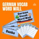 German Vocabulary Word Wall
