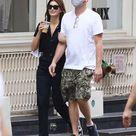 Leonardo DiCaprio keeps it casual as he links arms with Camila Morrone