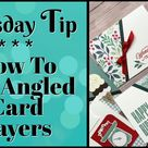 How I Made 2 Angled Cards In Simple Steps   Designer Paper Cards You'll Love