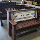 Bench Tailgate bench mancave decor garage furniture
