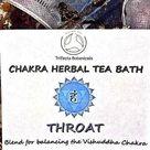 THROAT Chakra Herbal Tea Bath * Vishuddha Balancing & Fifth Chakra Healing Herbs Natural Apothecary Organic Botanicals Soak Home Spa