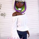 Smart Doll Wig Tokyo, replacement doll wig by Doll of a Kind,Fits most doll head 7.5- 8.5 inch ,Dollfie, Paola Reina, BJD 1/3