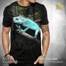 KAOS IGUANA – Baju Kaos REPTIL Gambar IGUANA BIRU – Blue Iguana 2