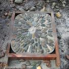 Building a Pebble Mosaic Stepping Stone