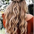 prom hair half up half down curly