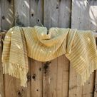 Handwoven Gold/Beige/Green Pure Wool Shawl