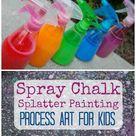 Spray Chalk Splatter Painting