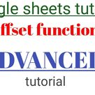 How to use offset function in Google sheets in hindi