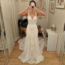 Romantic Summer Mermaid Wedding Dress Flower Robe De Mariage Elegant Bride Dress Lace Wedding Gowns