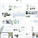 Small fresh hand drawn plants PowerPoint Templates_Best PowerPoint templates and Google Slides for free download