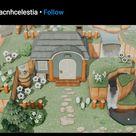 ACNH outdoor house decor idea